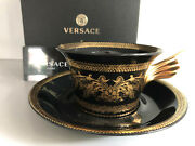 Versace Gold Baroque Tea Cup And Saucer Celebrating 25 Years Rosenthal New