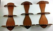 Lot Of 3 Wooden 3 - Tier Spoon Holders Rack Holds 35 Spoons Each - 15.5 X 9.5