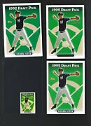 1993 Topps Derek Jeter Rookie 4 Card Lot Includes Gold And Micro Cards Yankees