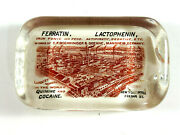 Rare Vintage Quinine Cocaine Advertising Glass Paperweight Oddity