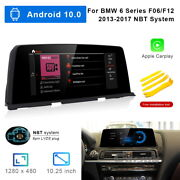 8-core Android 10 Car Gps Video Wifi Unit Wireless Carplay For Bmw 6 Series 2017