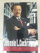 Signed Journey To Justice By Johnnie L. Cochran Hardcover Book Oj Lawyer 1996