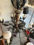 Vintage Tole French Chandelier Mid Century
