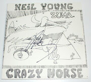 Neil Young Signed Authentic And039zumaand039 Vinyl Record Album Lp W/coa Singer Proof