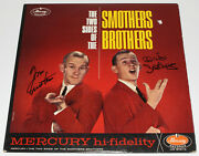 Tom And Dick Smothers Brothers Signed Album Vinyl Record Lp W/coa Folk Comedians