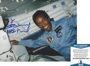 Nasa Astronaut Guion Bluford Signed 8x10 Photo 3 Space Sts-8 Beckett Bas Coa