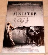 Actor Ethan Hawke Hand Signed 'sinister' 12x18 Movie Poster Photo W/coa