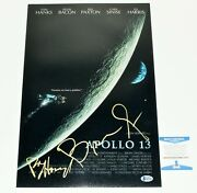 Ron Howard Brian Grazer Dual Signed And039apollo 13and039 12x18 Movie Poster Beckett Coa