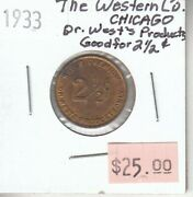 The Western Co - Chicago Illinois Usa - Dr. Westand039s Products Good For 2 1/2 Cents