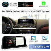 8-core Android 10 Car Gps Navigation Video Wifi Carplay For Bmw 6 Series F06 F12