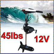45lbs 12v Thrust 40cm Shaft Bow Mount Trolling Electric Trolling Outboard Motor