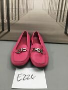 Talbots Womens Pink Leather Flats Size 7 B Skue226