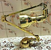 Nautical Vintage Style Ship Wall Adjustable Lamp Made Of Brass New 10 Piece