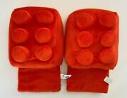 Thinkgeek Building Brick Slippers Red One Size Fits Most. Discontinued Rare