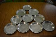 """Vintage Poppin Fresh Pie Tins Tin 9"""" Inch Lot Of 10 Metal Solid Vented 2 Styles"""