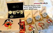 2015 20 And039looney Tunesand039 Pure Silver 4x1oz-coin Set W/watch+3 X 2oz Coins-7 Total