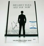 Jamie Dornan Signed And039fifty Shades Of Greyand039 12x18 Movie Poster Beckett Coa Bas