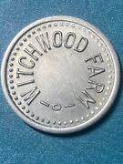 Witchwood Farm Token Good For 5c Milk Or Cream Extremely Rare. Unc-bu