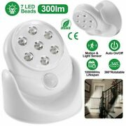 360° Battery Operated Led Lamp Motion Activated Pir Sensor Cordless Stairs Light