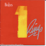 The Beatles Ringo Starr Signed Cd Cover Booklet W/coa Drummer 1 One Band