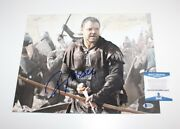Actor Russell Crowe Signed Gladiator 11x14 Photo Beckett Coa American Gangster