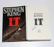 Stephen King Signandeacute And039itand039 1st/1st First Edition Impression Livre Roman W / Coa