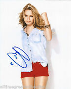 Actress Bridgit Mendler Signed Wizards Of Waverly Place 8x10 Photo Coa Cute A