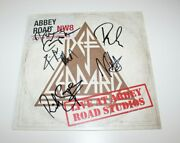 Def Leppard Band Signed And039live At Abbey Road Studiosand039 Album Record Lp Beckett Coa