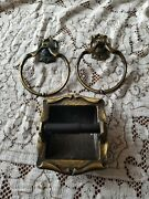 Vintage Amerock Carriage House Towel Ring Set And Toilet Tissue Holder.