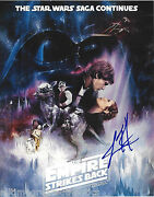 Lawrence Kasden Signed Authentic And039star Wars Episode Vand039 8x10 Poster Photo W/coa