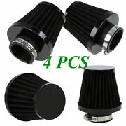 4pcs 53/54/55mm Motorcycle Cold Air Intake Filters Washable Pod For Harley Atv