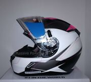 Hjc Cl-17 Omni Electric Snowmobile Helmet Pink White L Lg Large Snell M2015