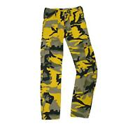 Army Trouser Us M65 Style Combat Military Cargo Bdu Work Pants Yellow Camo