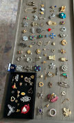 Huge 90pc Vintage And Now Brooch And Pin Lot Some Signed
