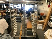 Aluminum Double Side Bakery Sheet Pan Rack Bakers Cart. Approximately 6andrsquo Tall