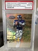 1999 Playoff Contenders Rookie Gold /25 Finesse Daunte Culpepper Auto 156 Psa 9