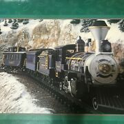 In Original Box Greatland Holiday Express Battery Operated Train Set Rare Blue