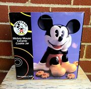 Mickey Mouse Cookie Jar Mickey And Company Treasure Craft New In Box