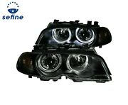 Anzo Projector Headlights Black And Haloand Corner Lights 2pc For 00-03 Bmw 3 Series