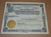 The Cloud City Mining Company 190x Antique Stock Certificate
