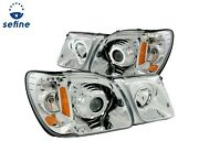 Anzo Projector Headlights Chrome Clear Smd Led For 98-07 Lexus Lx470 111169