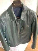 Giorgio Armani Black Label Leather Jacket M Brand New Made In Italy Amazing Cool