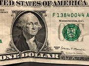 Us 1 One Dollar 2017 Paper Line Error Front And Back Very Rare Est 2,000
