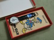 Rare Nos Vintage 1994 Ingersoll Limited Edition Donald Duck Menand039s Watch W/box