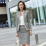 Women Business Suits With Skirt And Jackets Coat Ladies Professional Blazers Set