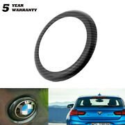 Rear Badge Logo Edge Ring Cover For Bmw 1 Series F20/f21 2011-2019 Carbon Fiber