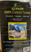 52- Pack Green Lifestyle 14 X 17 100 Cotton Heavy Weight Terry Towels