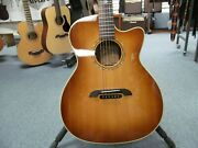 Alvarez Yairi Gym70ceshb Acoustic Electric Cutaway Guitar With Tags And Case