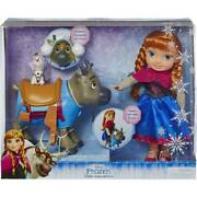 Disney Frozen Toddler Anna, Sven And Olaf 14 Doll Playset By Jakks Pacific New