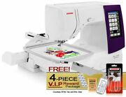 Janome Memory Craft 9850 Computerized Sewing + Embroidery Machine W/ Vip Package